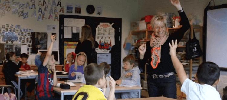 Aktuelle kurser fra MarteMeo uddannelsen. Billede viser børnehaveklasselærer og 0.klasse.