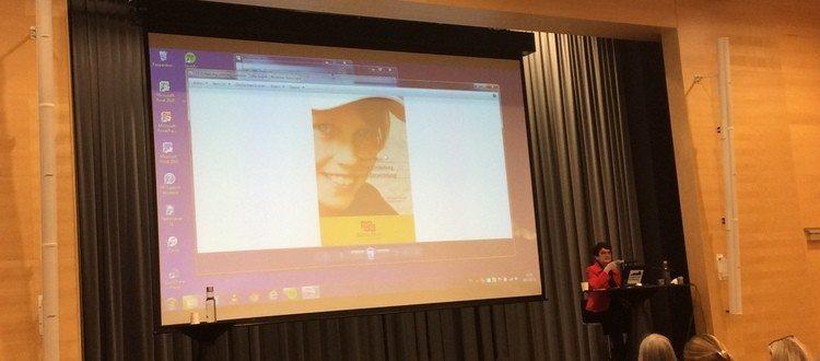 Maria Aarts holder foredrag til Nordisk Marte Meo Kongres 2016. Maria har inspireret Marte Meo børnehaven Kullerbyttan i Västervik.